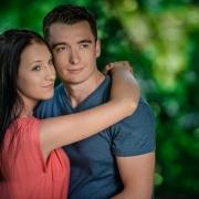 Emilka i Paweł - sesja narzeczeńska w Botaniku, Lublin